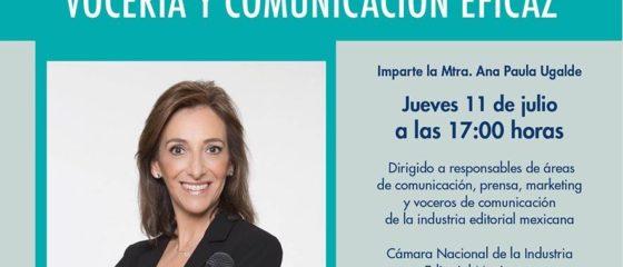 Charla Vocería y Comunicación Eficaz en la CANIEM