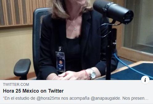 En el estudio de Hora 25 México con Pimitivo Olvera