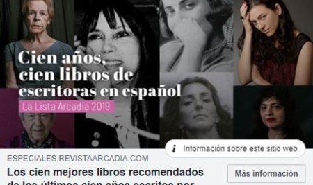 #Mediateca | 100 libros en español escritos por mujeres