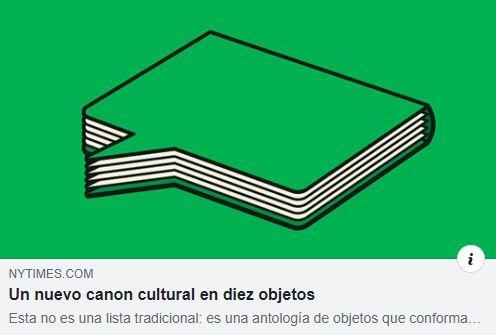 Nuevos objetos culturales