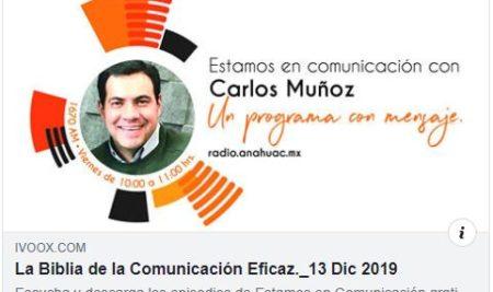 Podcast de la entrevista en Radio Anáhuac